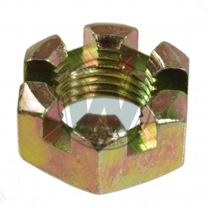 Picture of Castle Nut Metric M12 Thread Uses 19mm Spanner