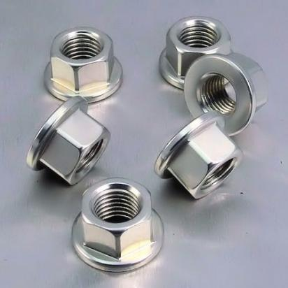 Picture of Pro-Bolt Aluminium Sprocket Nuts 10mm - Silver - Pack of 6