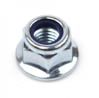 Picture of Hex Nuts Flanged Nyloc Metric M8 Thread Uses 13mm Spanner