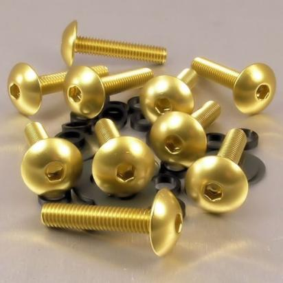 Picture of Pro-Bolt Aluminium Domed Head Bolt - M6x1.00mmx30mm - Gold - Pack of 10