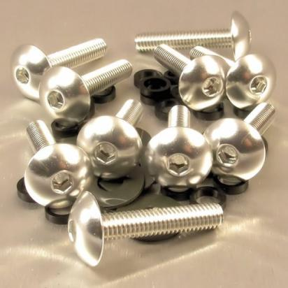 Picture of Pro-Bolt Aluminium Domed Head Bolt - M6x1.00mmx30mm - Silver - Pack of 10