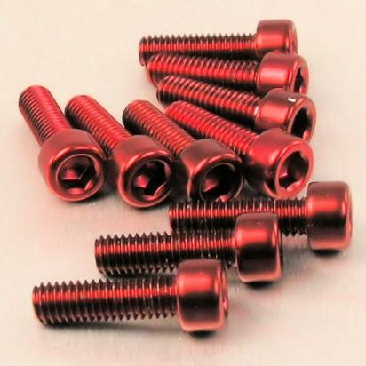 Picture of Pro-Bolt Aluminium Allen Cap Head Bolt - M6x1.00mmx20mm - Red - Pack of 10 CLEARANCE 65% Off
