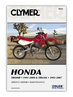 Picture of Clymer Manual - Honda XR600R / XR650L 1993-2007