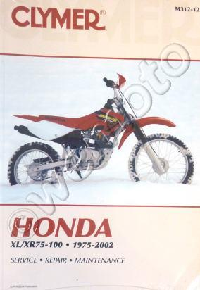Picture of Clymer Manual - Honda XL/XR 75-100, 1975-2002