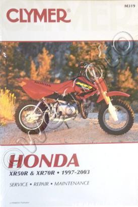 Picture of Clymer Manual - Honda XR50R, XR70R  1997-2003