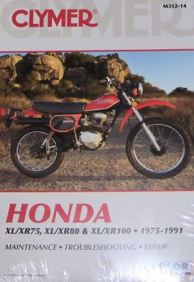 Clymer Manual - Honda XL/XR 75-100, 1975-1991