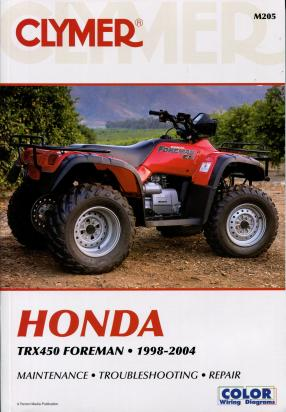 Picture of Clymer Manual - Honda TRX450 Foreman, 1998-2004