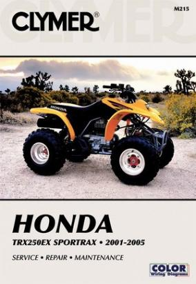 Picture of Clymer Manual - Honda TRX 250 EX Sportrax 2001-2005