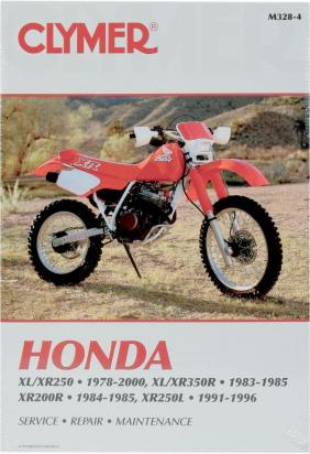 Clymer Manual - Honda XL/XR 250-350, 1978-2000 XR200R, 1984-1985