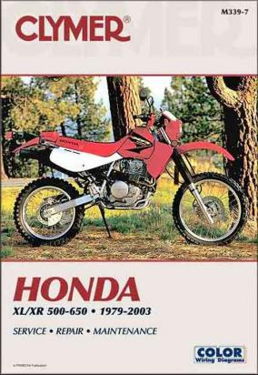 Picture of Clymer Manual - Honda XL/XR 500-600, 1979-1990