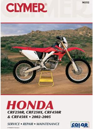 Picture of Clymer Manual - Honda CRF250R, CRF250X, CRF450R & CRF450X 2002-2005