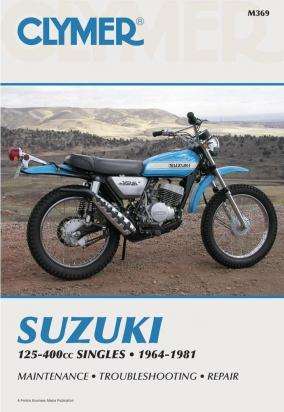 Picture of Clymer Manual - Suzuki 125-400cc Singles, 1964-1981