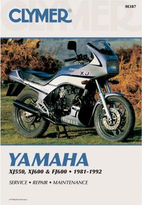 Picture of Clymer Manual - Yamaha XJ550, XJ600 & FJ600, 1981-1992