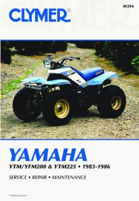 Picture of Clymer Manual - Yamaha YTM/YFM200 & YTM225, 1983-1986