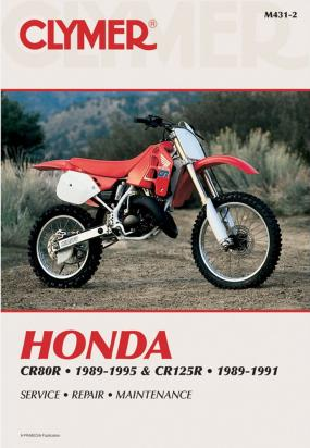 Picture of Honda CR 125 RL 90 Manual Clymer