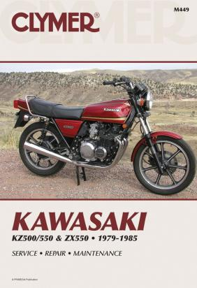 Picture of Clymer Manual - Kawasaki KZ500/550 & ZX550, 1979-1985