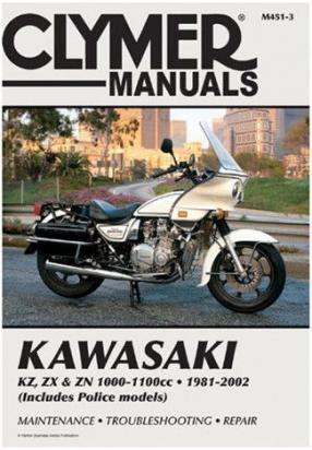 Picture of Clymer Manual - Kawasaki KZ, ZX & ZN 1000 & 1100cc Fours, 1981-2002