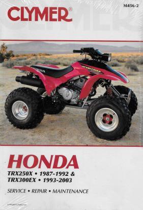 Picture of Clymer Manual - Honda TRX250 87-92 / TRX3004TRAX 93-00 ATV / Sportrax 300EX 01-03