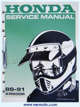 Picture of Genuine Workshop Manual - Honda XR600R 88-91
