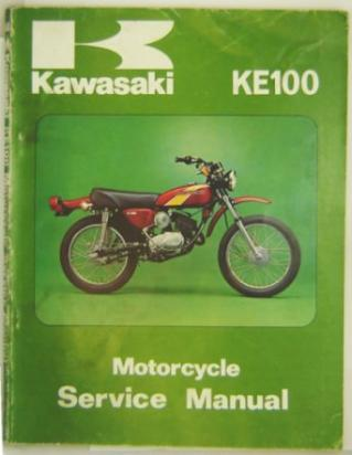 Genuine Service Manual - Kawasaki KE100 1972-1980 - Slightly shop soiled
