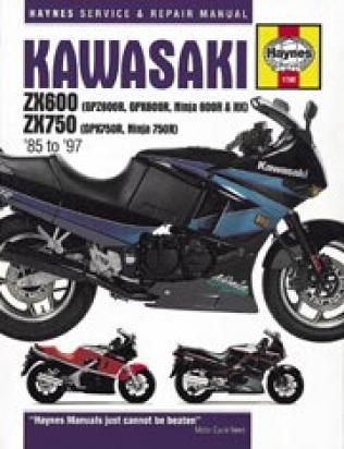 Picture of Kawasaki GPZ 600 R (ZX 600 A5) 89 Manual Haynes