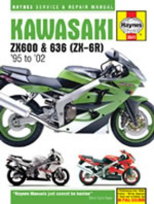 Picture of Haynes Manual - Kawasaki ZX6-R (ZX600F,G,H,J,ZX636A) 1995-2002