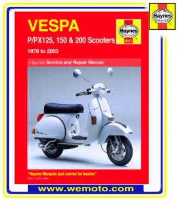Picture of Haynes Manual - Vespa P/PX 125-200cc 78-03