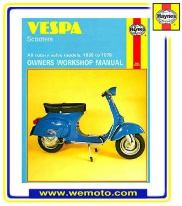 Haynes Manual - Vespa Scooters 59-78