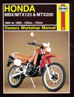 Picture of Honda MTX 125 RWD 83-84 Manual Haynes