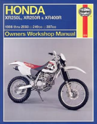 Picture of Honda XR 400 R3/R4 (US Market) 03-04 Manual Haynes