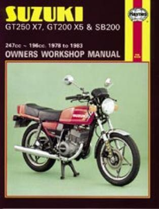 Picture of Haynes Manual - Suzuki GT200/250 SB200