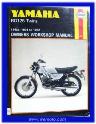 Picture of Haynes Manual - Yamaha RD125  1974 >
