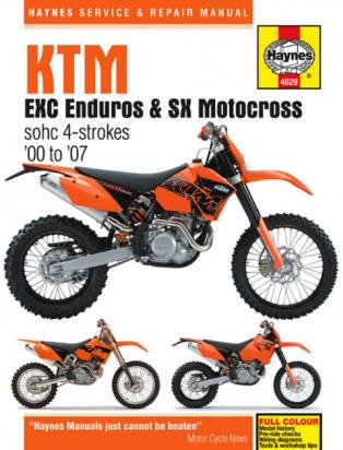 Haynes Manual - KTM EXC 250 400 450 520 525   SX 400 450 520 525