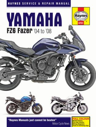 Picture of Haynes Manual - Yamaha FZ-6S/FZ6-N 2004-2007