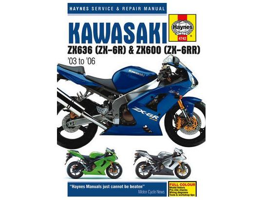 Picture of Hynes Manual Kawasaki ZX6-R (ZX600B C K M N) 2003-2006