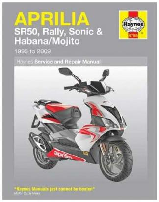 Picture of Haynes Manual - Aprilia SR50, Rally, Sonic, Habana & Mojito Scooters
