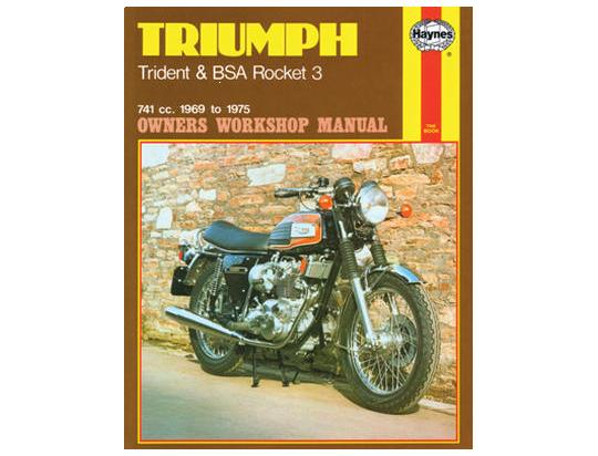 Haynes Manual - Triumph Trident 1969-1975 BSA Rocket 1969-1972