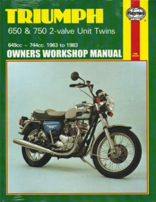 Picture of Haynes Manual - Triumph 650 and 750 Twins 63-83