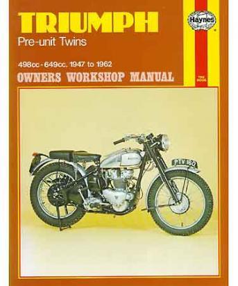 Picture of Haynes Manual - Triumph Pre-Unit Twins (47 - 62)