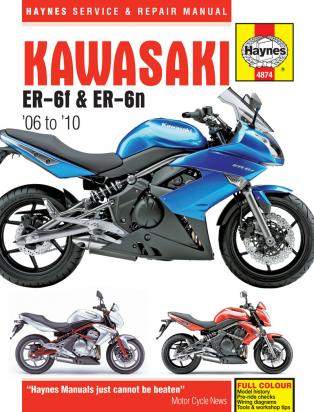 Picture of Kawasaki ER-6 F DAF (ABS) 10 Manual Haynes