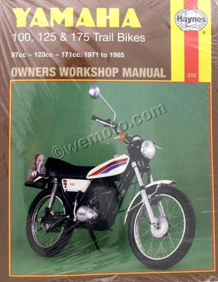 Haynes Manual - Yamaha 100, 125 and 175 Trail Bikes