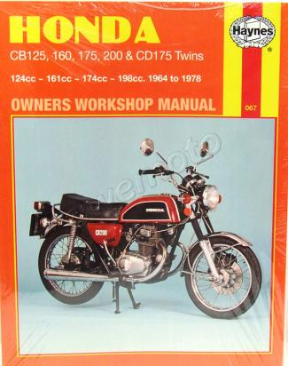 Picture of Haynes Manual - Honda CB125/160/175/200
