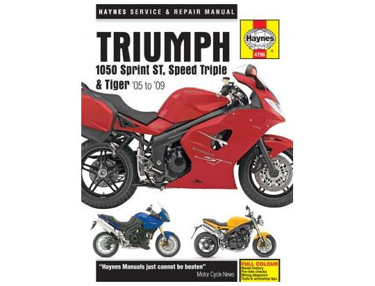 Picture of Haynes Manual - Triumph 1050 Sprint ST, Speed Triple, Tiger 05-09