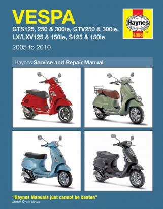 Picture of Haynes Manual - Vespa Scooters GTS GTV LX S