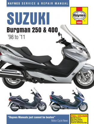 Picture of Haynes Manual - Suzuki AN250 AN400 Burgman 98-11