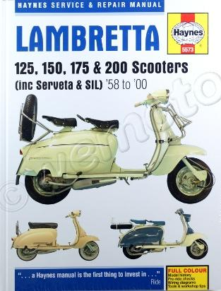 Haynes Manual - Lambretta Scooters 125, 150, 175, 200 cc 1958 - 2000