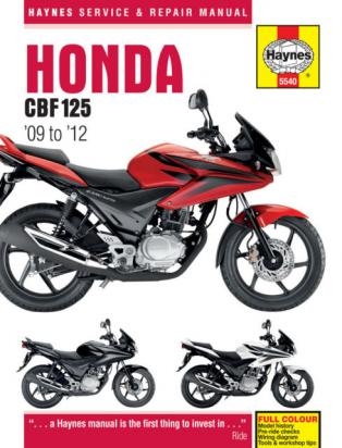 Picture of Haynes Manual - Honda CBF125 09 - 12