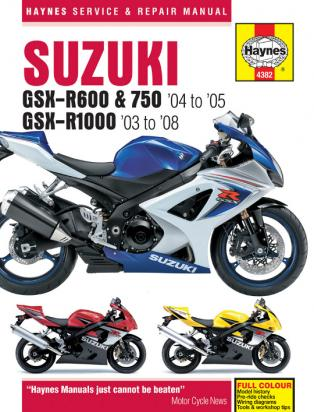Picture of Haynes Manual - Suzuki GSX-R600/750 (04-05) & GSX-R1000 (03-08)
