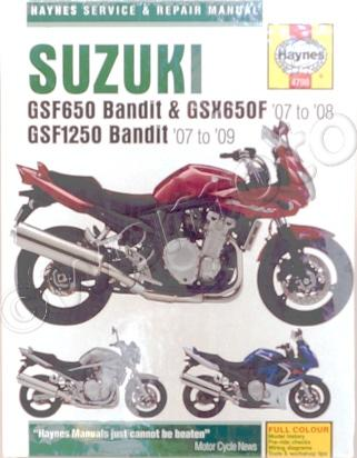 Picture of Haynes Manual - Suzuki GSF650/1250 07-09
