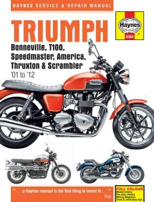 Picture of Haynes Manual - Triumph Bonneville Speedmaster T100 Thruxton 01-12